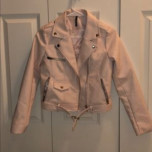 light pink leather jacket!!